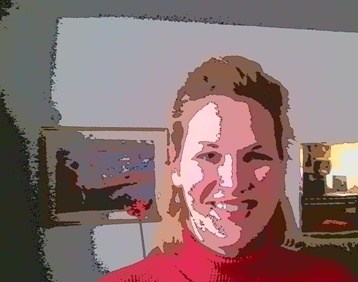 Cartoon headshot of blogger, Sandra Rogers
