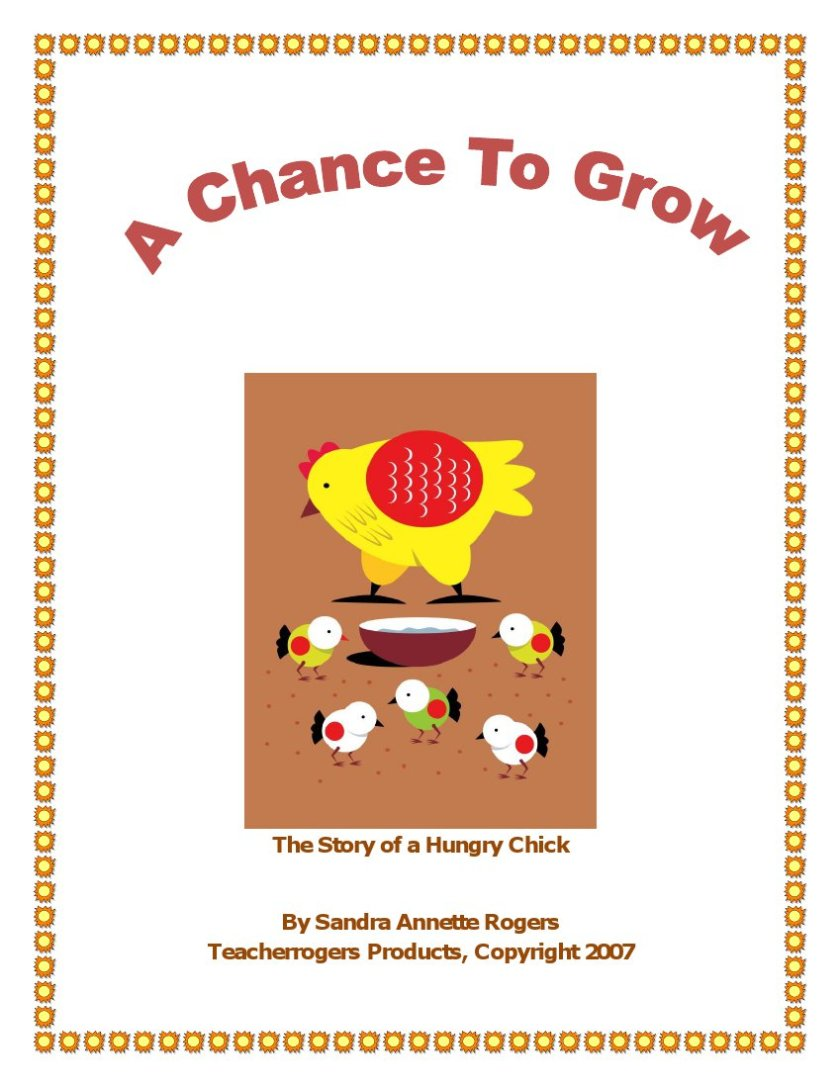Cover page of story titled, A Chance To Grow