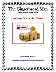 "Gingerbread Man with bow tie near stack of other cookies says, ""Catch me if you can, I'm the Gingerbread Man!"""