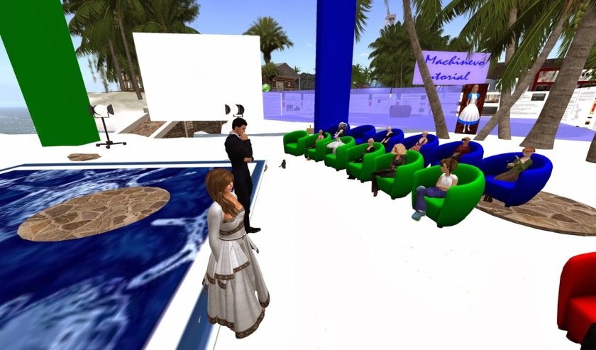 Meeting of avatars in Second Life