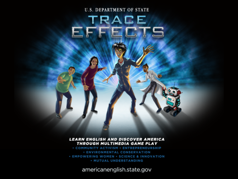 Trace and other characters in the game  called Trace Effects