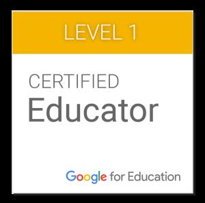 Google Certified Educator Badge