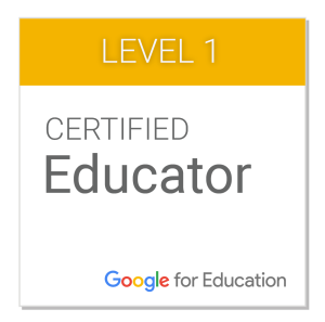 Google Certified Educator Badge
