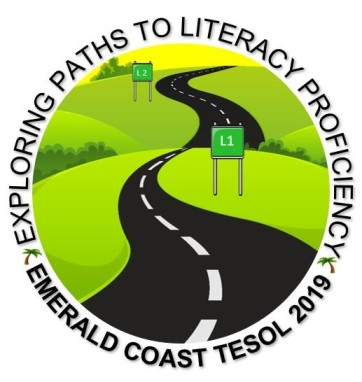 A highway with road signs with the words Emerald Coast TESOL 2019>Exploring Paths to Literacy Proficiency