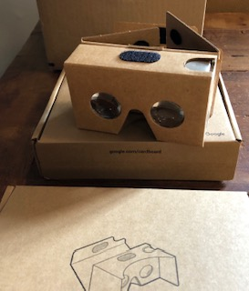 Google VR headset is made of cardboard