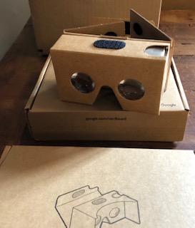 Google VR headset is made of cardboard
